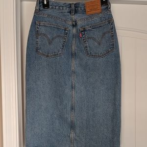 NWT Levi deconstructed skirt button fly, 25